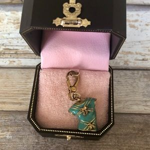 Juicy Couture Blue Bow Tie T Shirt Pendant Charm